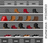 vector illustration with... | Shutterstock .eps vector #593260010