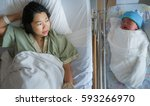 new born baby just delivery... | Shutterstock . vector #593266970