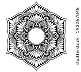 mandalas for coloring book.... | Shutterstock .eps vector #593267048