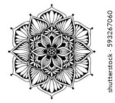 mandalas for coloring book.... | Shutterstock .eps vector #593267060