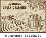 apple organic farming landscape | Shutterstock . vector #593268110