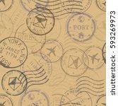 vector seamless pattern... | Shutterstock .eps vector #593269973