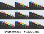 mega set of infographics... | Shutterstock .eps vector #593270288