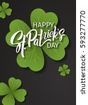 happy st. patrick's day... | Shutterstock .eps vector #593277770