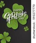 happy st. patrick's day... | Shutterstock .eps vector #593277770