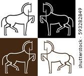 Stock vector horse icon 593282849