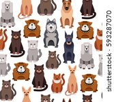 seamless background. pets.   Shutterstock .eps vector #593287070