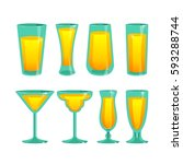 vector illustration of a set of ... | Shutterstock .eps vector #593288744