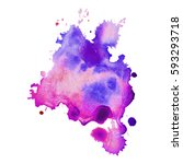 abstract hand drawn watercolor... | Shutterstock .eps vector #593293718
