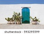 Door Of One Of The Typical...
