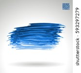 brush stroke and texture.... | Shutterstock .eps vector #593297279