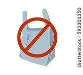 no plastic bag icon. vector... | Shutterstock .eps vector #593301350