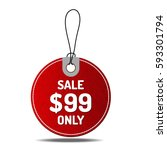 price red tags circle set on... | Shutterstock .eps vector #593301794