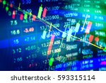 financial stock market graph on ... | Shutterstock . vector #593315114