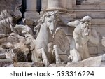 Detail Of Trevi Fountain  Rome...