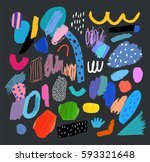 artistic creative universal... | Shutterstock .eps vector #593321648