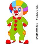 funny clown isolated on white | Shutterstock . vector #593329433
