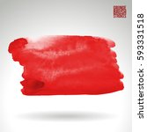 brush stroke and texture.... | Shutterstock .eps vector #593331518