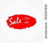 geometrical social media sale... | Shutterstock .eps vector #593337830