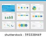 flat vector  set infographics... | Shutterstock .eps vector #593338469