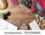travel plan  trip vacation...   Shutterstock . vector #593344889