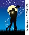 silhouette vector illustration... | Shutterstock .eps vector #593346308