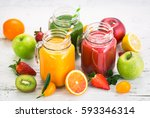 healthy fruit and vegetable... | Shutterstock . vector #593346314
