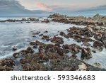 Rocky Shore Sunset At Asilomar...