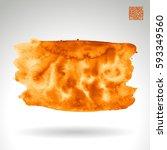 brush stroke and texture....   Shutterstock .eps vector #593349560