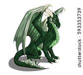 Green Dragon   Vector...