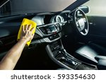 microfiber and console car ... | Shutterstock . vector #593354630