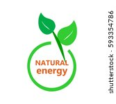 eco icon  natural energy | Shutterstock .eps vector #593354786