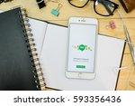 chiang mai  thailand   feb 26 ... | Shutterstock . vector #593356436