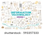 information technology with web ... | Shutterstock .eps vector #593357333