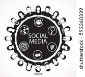 social network vector logo...   Shutterstock .eps vector #593360339