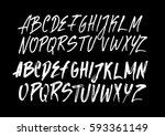 graphic font for your design.... | Shutterstock .eps vector #593361149
