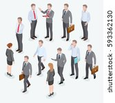 group of business human... | Shutterstock .eps vector #593362130