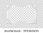 square frame template on sticky ... | Shutterstock .eps vector #593363654