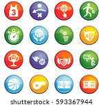 basketball vector icons for... | Shutterstock .eps vector #593367944