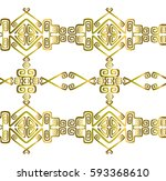 seamless pattern in american... | Shutterstock .eps vector #593368610