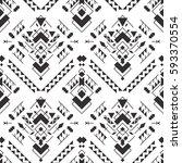 abstract geometric aztec... | Shutterstock .eps vector #593370554