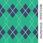 seamless argyle pattern | Shutterstock .eps vector #593372108