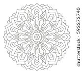 tribal ancient mandala.... | Shutterstock .eps vector #593373740