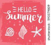 conceptual hand drawn phrase... | Shutterstock .eps vector #593379809
