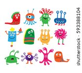 collection of a different... | Shutterstock . vector #593388104