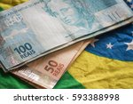 brazil money    reais | Shutterstock . vector #593388998