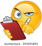 emoticon inspecting with... | Shutterstock .eps vector #593391893