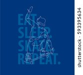 typography poster  t shirt... | Shutterstock .eps vector #593395634