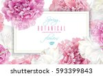 vector horizontal banner with... | Shutterstock .eps vector #593399843