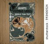 vector vintage items  label art ... | Shutterstock .eps vector #593400524